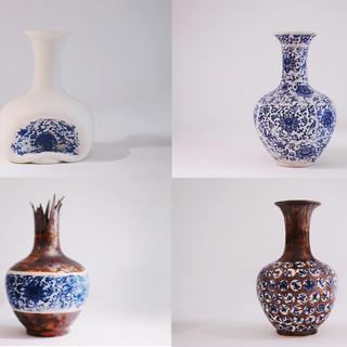 New Blue And White--Ceramic--19cmx19cmx2