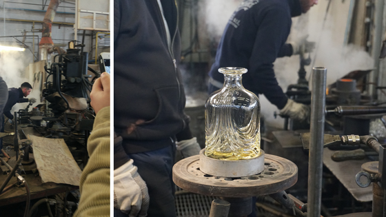 Glass blowing workshop in Italy