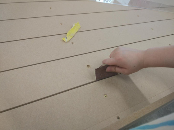 The problem about the wood shelf for work