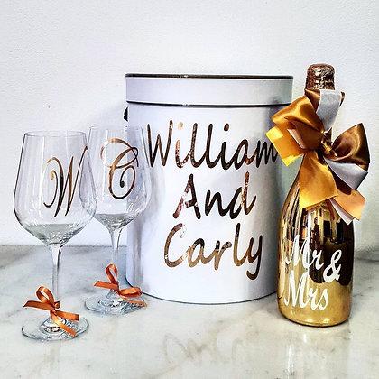 Wine & Wine Glass Set - Gift Hamper