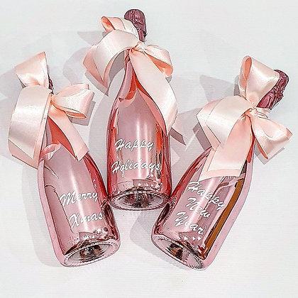 Christmas Greetings Bottle - Rose Gold