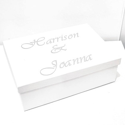 White Personalised Gift Box - From