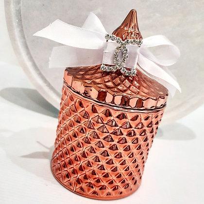Rose Gold Tall Mademoiselle Tiffany Jar