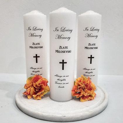 Condolence Pillar Candle