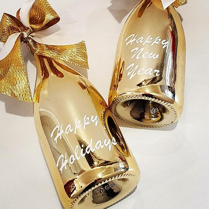 Christmas Greetings Bottle - Gold