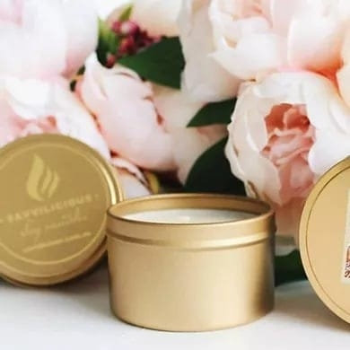 Gold Travel Tins
