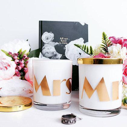 Mr & Mrs - Set of 2 - Medium Candles