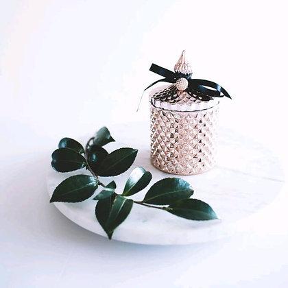 Tall Rose Gold Tiffany Jar
