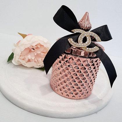 Rose Gold Tall Chanel Tiffany Jar