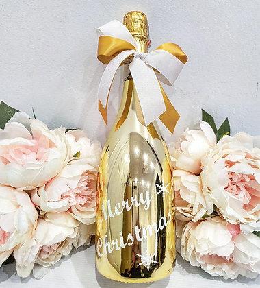 Christmas Greetings Bottle - Gold