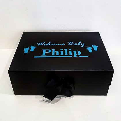 "Personalised ""Baby Announcement"" Bow Box"
