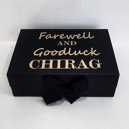 Regular Black Personalised Bow Box
