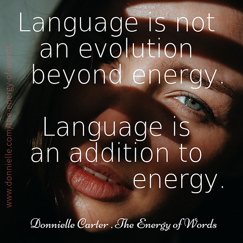 Donnielle Carter The Energy Of Words Lan