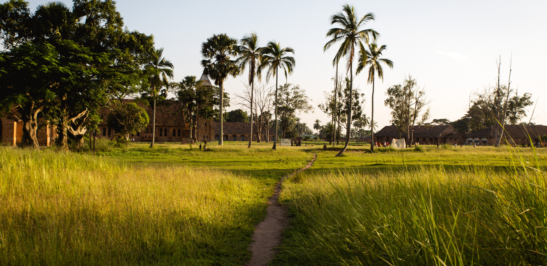 In tshibala, the sun sets on the village.