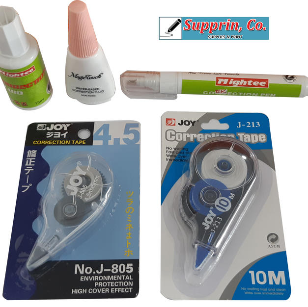 Correction Tapes & Fluid Erasers