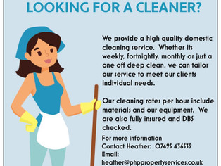 Our new Domestic cleaning flyer and a revamped Business card