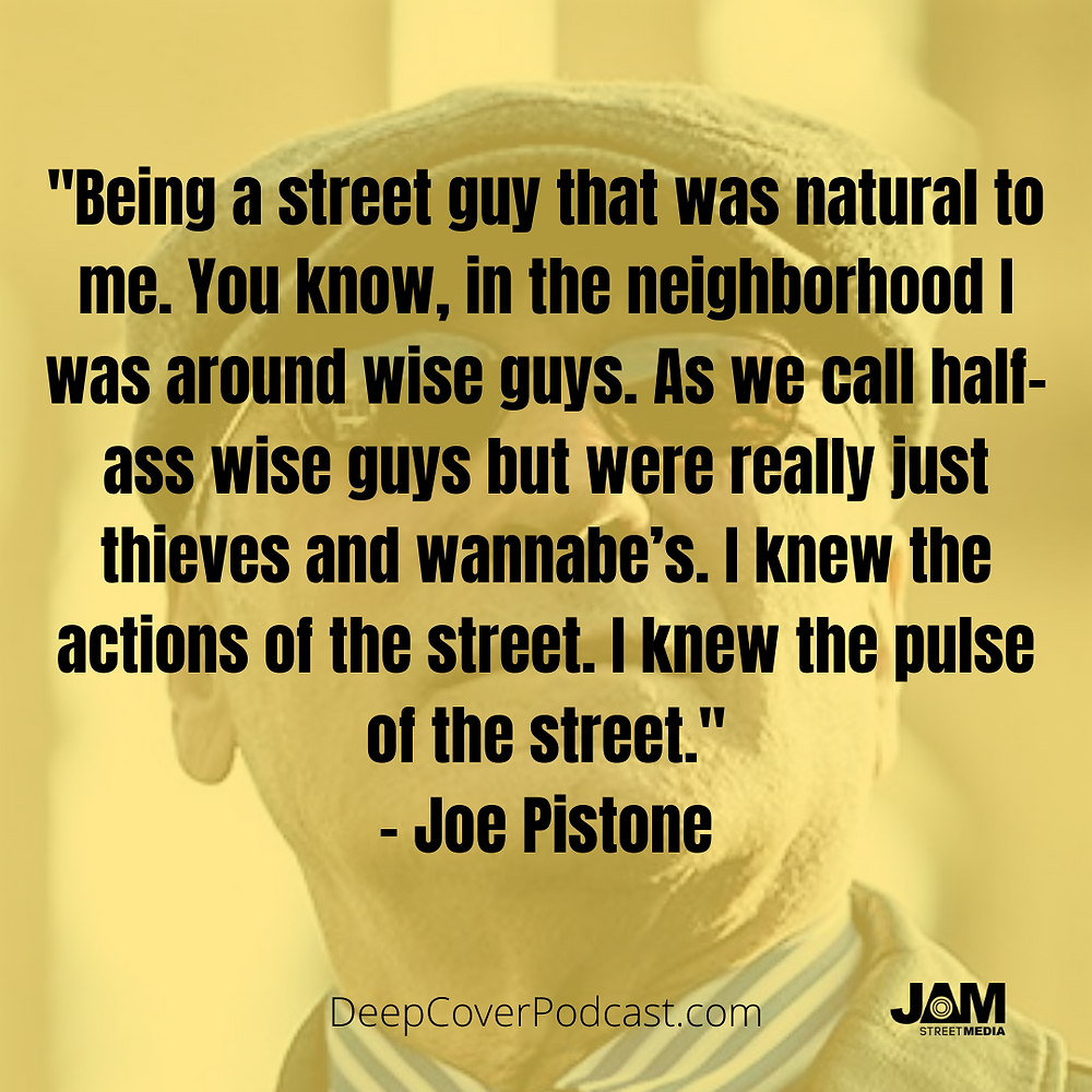 Joe Pistone on his life growing up - Season 1 Ep1 Deep Cover The Real Donnie Brasco.