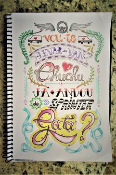 Canção para Amanda dos Anjos - Caligrafia - Caligrafia da canção dedicada à musa inspiradora de Julinho, a irmã do palestrinha. Twitter/Instagram: @jupiiiteriana - Emily Navarro