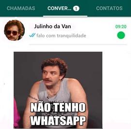 Julhinho da Van usa Whatsapp - gravena