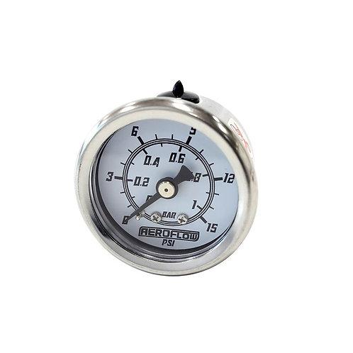 Pressure Gauge, 1 Bar (15 PSI)