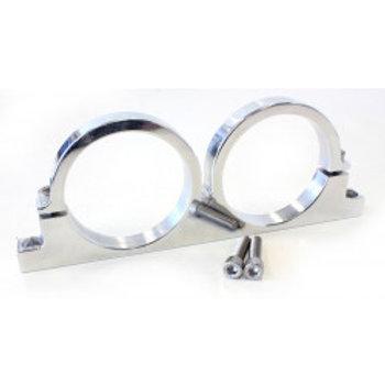 AEROFLOW Dual Filter Bracket, Billet, Suits 178mm Pro Filter (66.5mm ID)