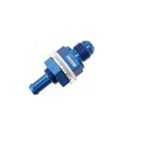 "Bulkhead Fitting, -6AN to 7.93mm (5/16"") Barb"