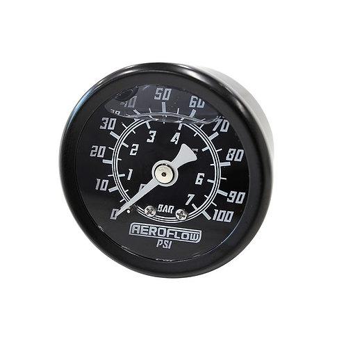 Pressure Gauge, 7 Bar (100 PSI), Liquid Filled