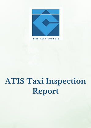 ATIS Taxi Inspection Report (Members Only)
