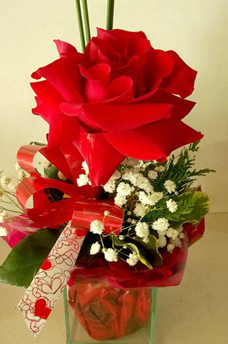 Arranjo com uma rosa especial