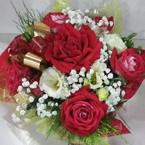 Coracão de flores.