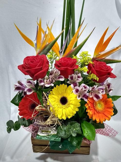 Arranjo flores variadas