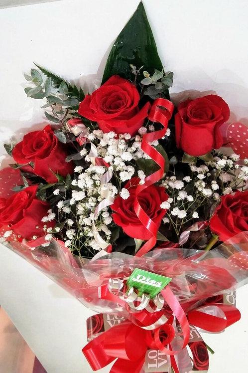 Buquê com 6 rosas especiais