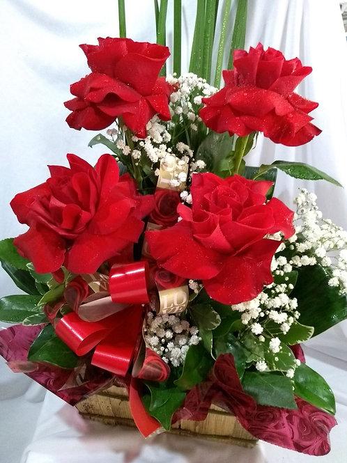 Arranjo de rosas importadas