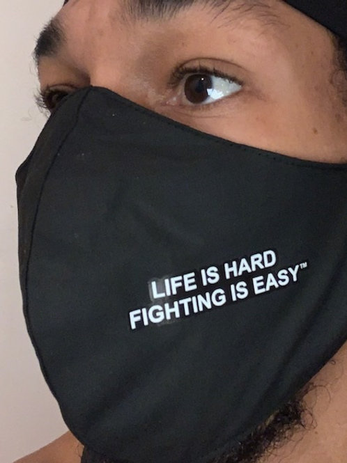Fighting is Easy custom masks wording