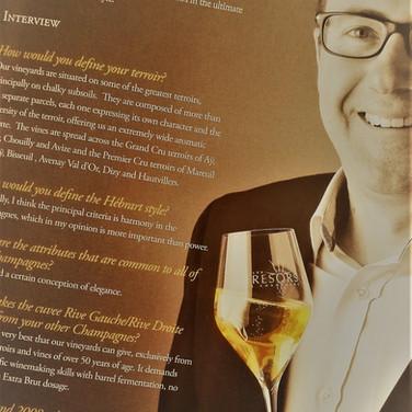 Vin et Champagne dans La Presse