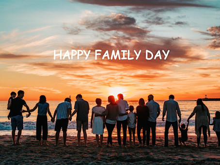 Just wishing everyone 'Happy Family Day' Enjoy your time with your family!