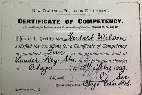 Lauder Railway School - Cert of Compente