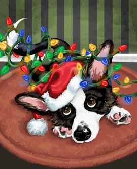 Corgi Christmas 8x10 Print