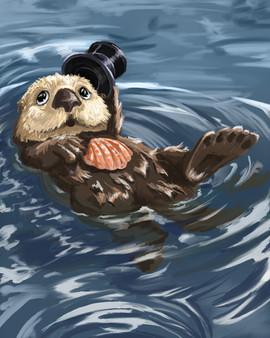 Gentleman Otter 8 x 10 Print