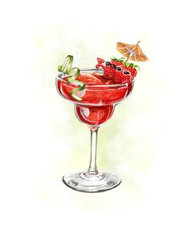 Strawberry Daquiri 8x10 Print