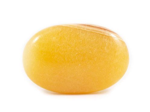 Galet Calcite orange