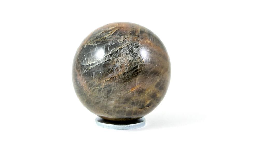 Sphère Pierre de lune noire 47mm
