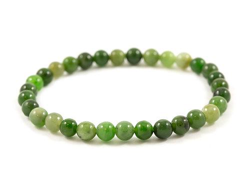Bracelet Jade nephrite 6mm