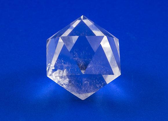 Icosaèdre Cristal de roche ref: Ico3