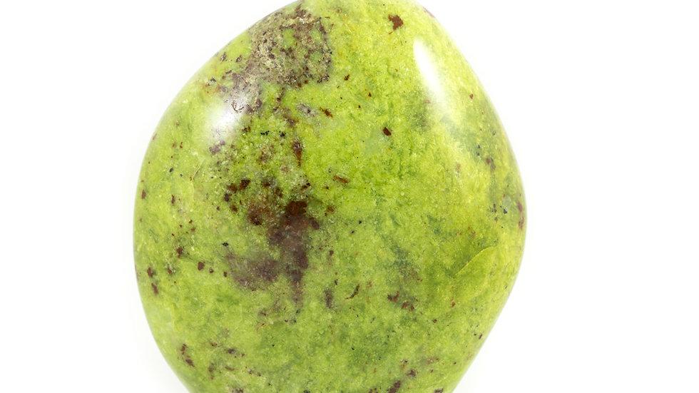 Opale verte forme libre ref: ovb1