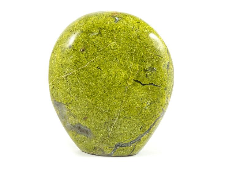 Opale verte forme libre ref: ovb2
