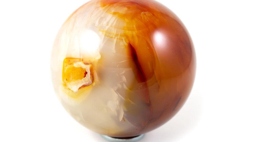 Sphère Cornaline 61mm