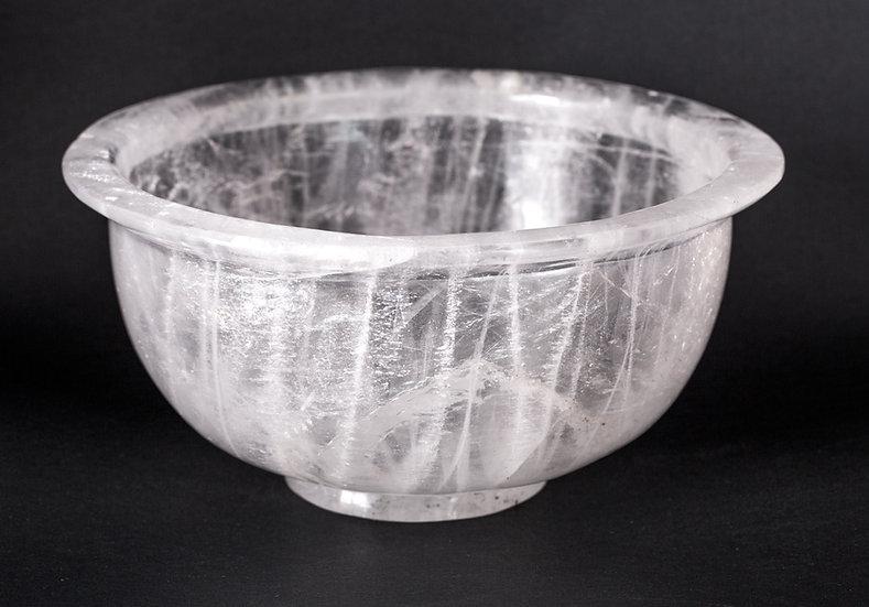 Coupe Cristal de roche diamètre 21cm