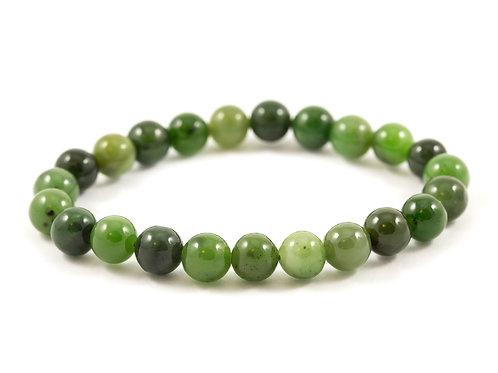 Bracelet Jade nephrite 8mm
