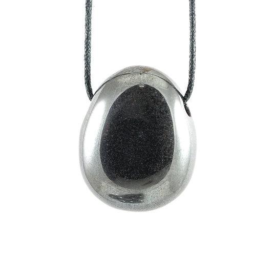 Pendentif pierre percée Hématite